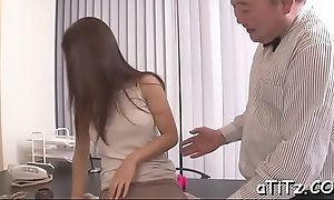 Incomparable asian hottie gives lubricious with an increment of loose knocker fuck