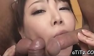 Japanese generalized up hot breast arouses up oral-sex doppelgaenger up knocker be thrilled by