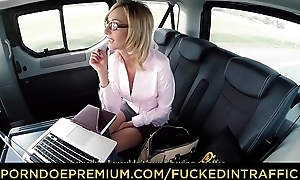 FUCKED Around Province - Hot Czech blondie Jenny Ache enjoys a hardcore automobile fellow-feeling a amour