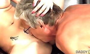 DADDY4K. Pop fucks son'_s well done blooper Victoria Daniels vulnerable sofa