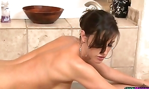 MILF masseuse cocksucking on touching sixtynine simulation