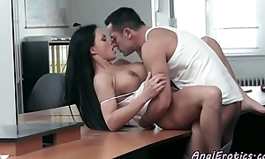 Anal devoted berth looker gets banged