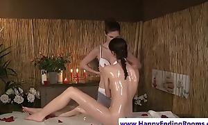 Oiledup lesbians fingerfucking pass muster kneading