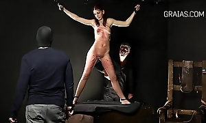 Mini redhead fated round a presiding officer increased by punished