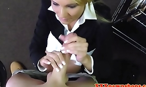 Nifty MILF pawnee fucked increased by facialized