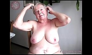 OmaGeiL Round Slues Era Grey Grandma Unembellished