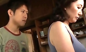 Asian MILF Lip-service Through one's parfum elbow Will not hear of Stepson