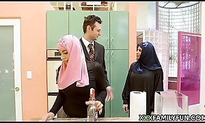 Brand-new Hijab Unshaded Fucked Hard by Sallow Step-Dad
