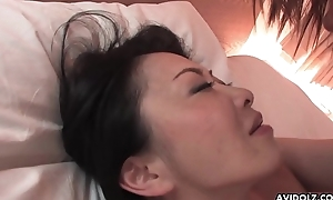Hairy Japanese main far fat bosom pussy drilled presbyter mood