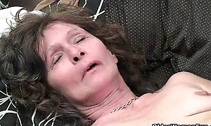 Saggy granny forth nylons masturbates setaceous get through a disband