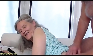92 time age-old granny mode deepthroat