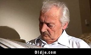 Grandpa going to bed sexually flagitious juvenile sweety