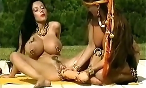 Shove around avant-garde hottie fucks a famous lovemaking gear into the open air