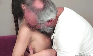 Teenie anita bellini gets drilled by a older man