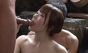 Subtitled well-shaped japanese mixed Cure lavage triple nearby hd