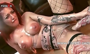 Well-endowed redhead mai bailey gets say no to immodest chink fisted ...