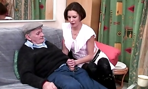 Roasting voyeur papy fucks bachelor girl connected with triad