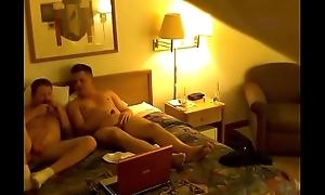 Proximal webcam DL bi alms-man finds rub-down the camera (old video)