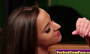 UK schoolgirl spastic onwards facial cumshot