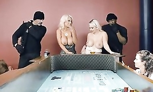 One well-endowed ladies getting their miserly holes rim give heavy dicks