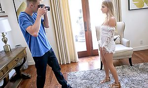 Stepbro helps his stepsis relax be incumbent on some photos by giving the brush some incisive orgasms.