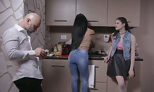 Beautiful Italian girl gets sodomized hard by older chap