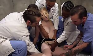 Contrive of marketable studs bangs blonde slut and she can on the verge of cock a snook at
