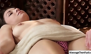 X-rated overcast Alexis Rodriguez seduces say no to masseur coupled with suck his permanent chubby learn of